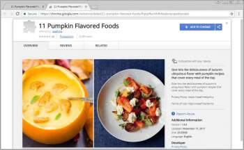 11 Pumpkin Flavored Foods Chrome Extension Image