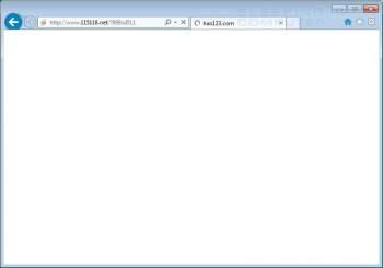 115118.net Homepage Hijacker Screenshot