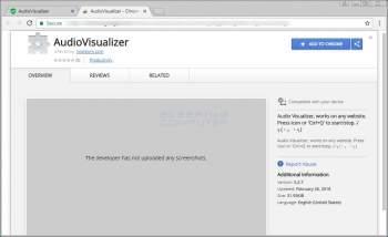 AudioVisualizer Chrome Extension Image