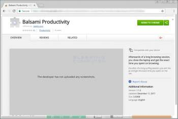 Remove the Balsami Productivity Chrome Extension Image