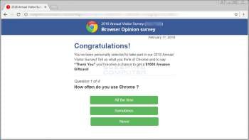 Remove the Browser Opinion survey Advertisement Image