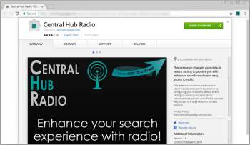 Remove the Central Hub Radio Chrome Extension Image