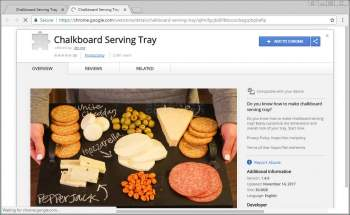 Chalkboard Serving Tray Chrome Extension Image