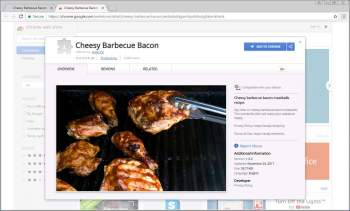 Cheesy Barbecue Bacon Chrome Extension Image