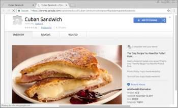 Cuban Sandwich Chrome Extension Image