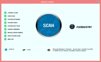 Remove the FixRegistry Registry Cleaner Tech Support Scam Image