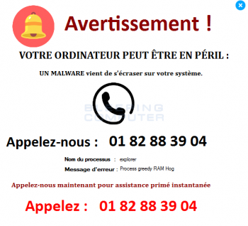 Votre Ordinateur Peut Être En Péril Tech Support Scam Image