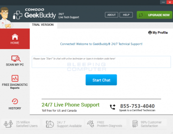 How to Remove GeekBuddy Live Support Image