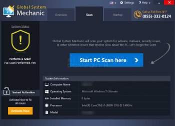 Global System Mechanic System Optimizer PUP Screenshot