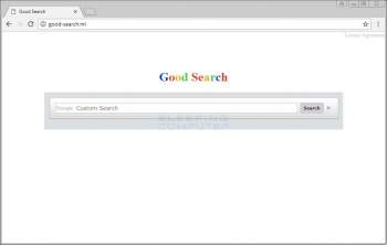 Good-search.ml Homepage Hijacker Screenshot