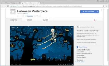 Remove the Halloween Masterpiece Chrome Extension Image