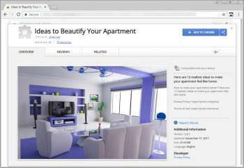 Remove the Ideas to Beautify Your Apartment Chrome Extension Image