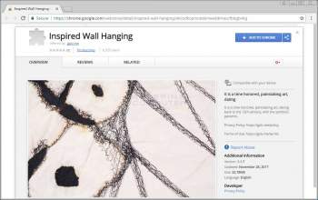 Remove the Inspired Wall Hanging Chrome Extension Image