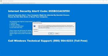 Remove the Internet Security Alert Tech Support Scam Image