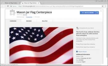 Mason Jar Flag Centerpiece Chrome Extension Image