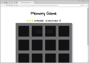 Memory Game Chrome Extension Image