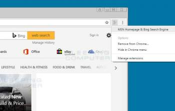 MSN Homepage & Bing Search Engine Extension Image