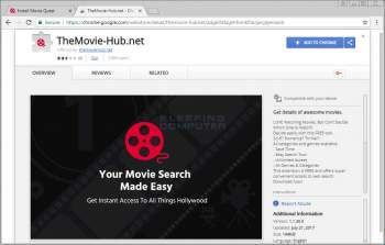 Remove the TheMovie-Hub.net Chrome Extension Image