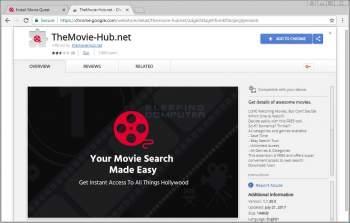 Remove the TheMovie-Hub.net Chrome Extension Image