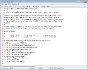 Oneway Hosts File Modifying Trojan Image