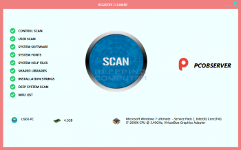 Remove the Pcobserver Registry Cleaner Tech Support Scam Image