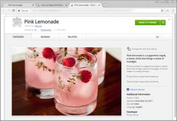 Pink Lemonade Chrome Extension Image