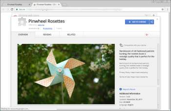 Pinwheel Rosettes Chrome Extension Image