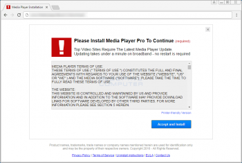 The Please Install Media Player Pro To Continue Popup Image