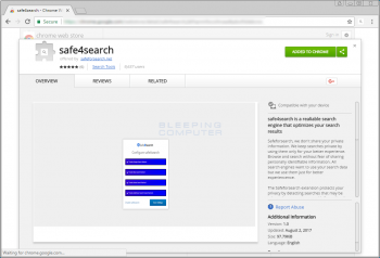 Safe4search Chrome Extension Image