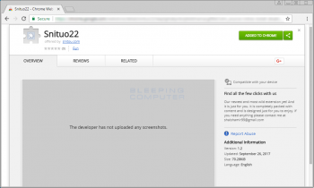 Remove the Snituo22 Chrome Extension Image