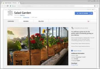 Salad Garden Chrome Extension Image