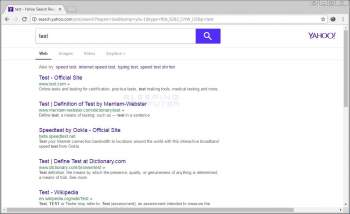 Remove the Search.yahoo.com Search Results Redirect Image