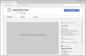 Remove the Searchfort Plus Chrome Extension Image