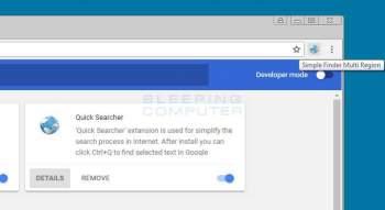 Simple Finder Multi Region Chrome Extension Image