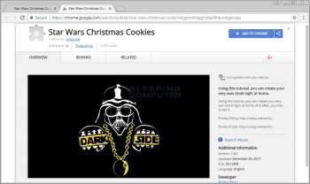 Star Wars Christmas Cookies Chrome Extension Image