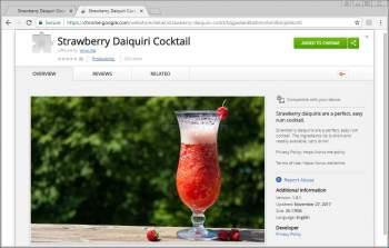Remove the Strawberry Daiquiri Cocktail Chrome Extension Image