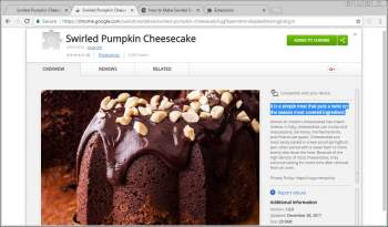 Remove the Swirled Pumpkin Cheesecake Chrome Extension Image