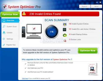 Remove the System Optimizer Pro PUP Image