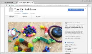 Toss Carnival Game Chrome Extension Image