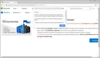 Virus found! Fake Scanner Scam Image