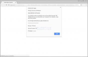 Windows Security Notification Scam Alert Image