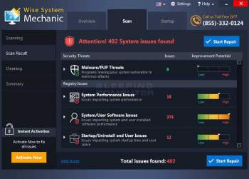 Remove the Wise System Mechanic System Optimizer PUP Image
