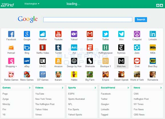 22Find.com Browser Hijacker Screen shot