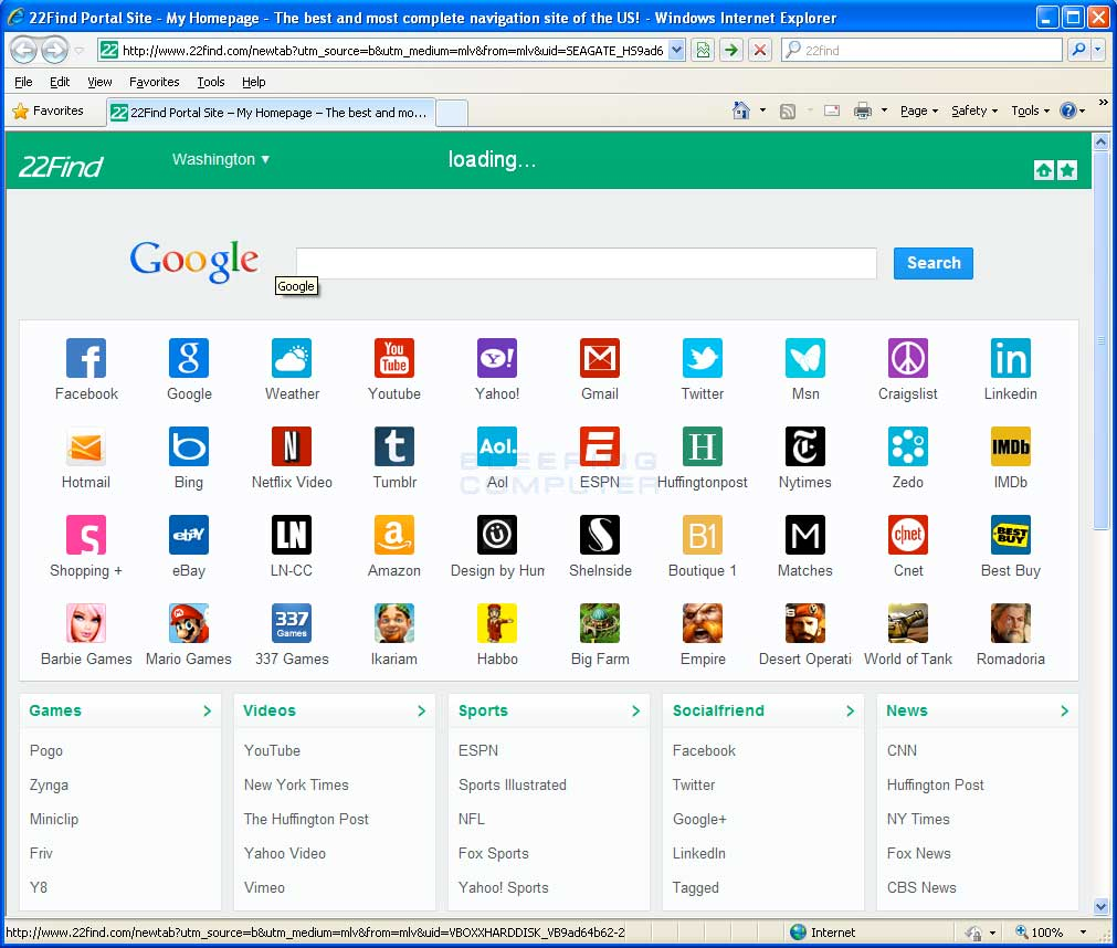 22Find.com Browser Hijacker Screen shot