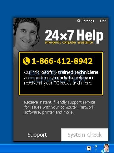 24x7 Help screen shot