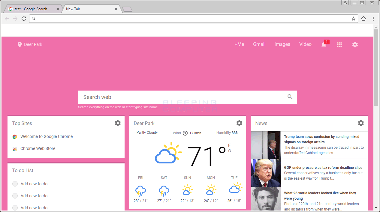 99tab.com New Tab Page