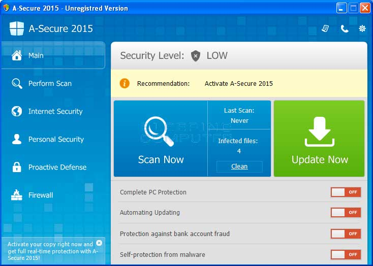 A-Secure 2015 screen shot