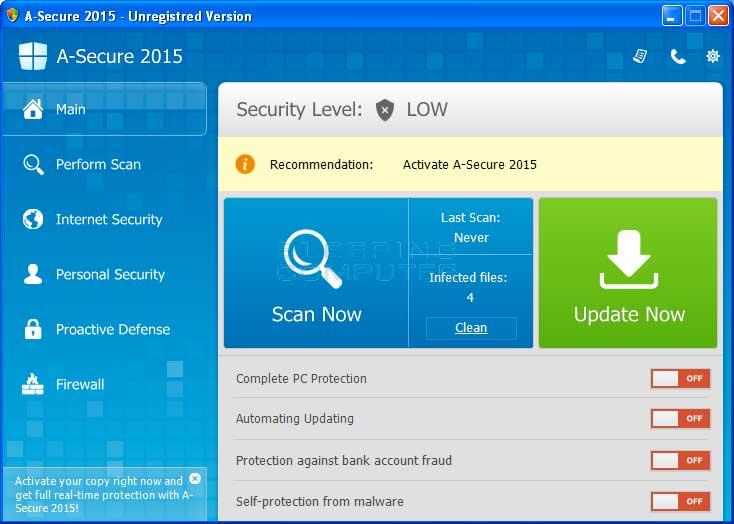 A-Secure 2015 screen shot