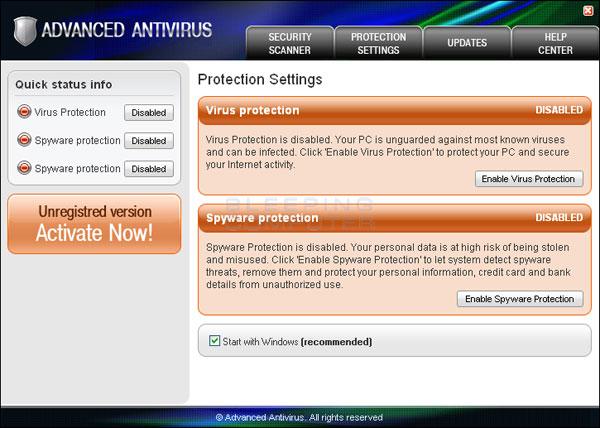Advanced Antivirus Screen Shot