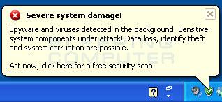 Severe system damage alert